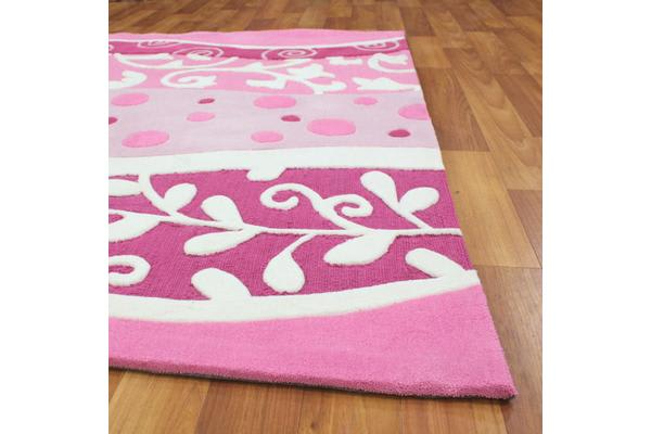 Stunning Pink and White Rug 220x150cm