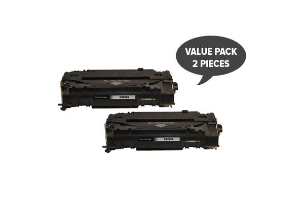 CE255A #55A Black Generic Toner (Two Pack)