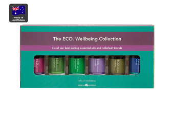 ECO. Aroma Wellbeing Essential Oil Collection - 6 Pack (Women's Blend, Eucalyptus, Peppermint, Lavender, Tea Tree & Energy Blend)