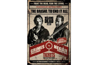 The Walking Dead Fight Poster (Multicoloured) (One Size)