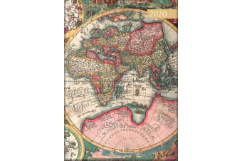 Antique Maps - 2020 Diary Planner A5 Padded Cover by The Gifted Stationery