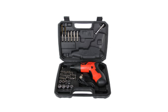 Rechargeable Cordless Screwdriver With Circuit Sensor Technology And 45 Piece Bit Kit