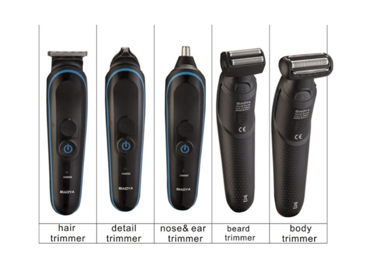Select Mall 5-in-1 Multi-function Hair Clipper Home Adult Rechargeable Razor Electric Razor Knife Power Generation Hair Clipper