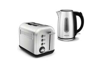 Morphy Richards Equip 2 Slice Toaster & 1.7LKettle Brushed Stainless Steel