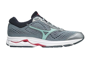 Mizuno Women's WAVE RIDER 22 Running Shoe (Tradewinds/Teaberry, Size 8 US)