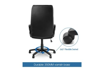 Executive Office Chair High Back Premium PU Leather Computer Race Desk Seat