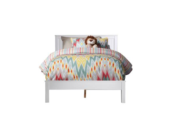 Artiss Pine Wood Bed Frame in White QUEEN