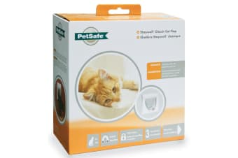 Petsafe Staywell Magnetic 4-Way Locking Classic Cat Flap (White) (One Size)