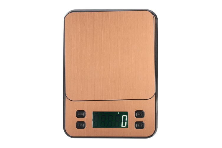 10Kg Stainless Steel Kitchen Scale Lcd Display 1G Graduation Coffee Scale Usb Powered