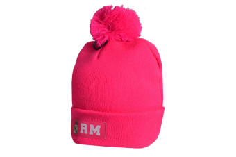 Real Madrid CF Official Cuff Knitted Hat (Pink)