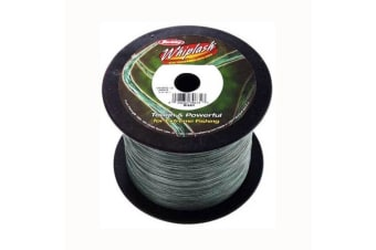 Bulk 2200yd Spool of 80lb Green Berkley Whiplash Braided Fishing Line