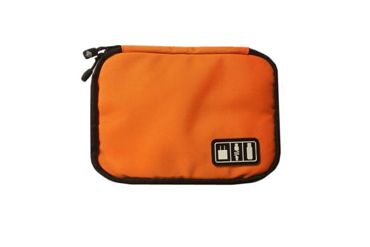 Electronics Accessories Case USB Drive Shuttle-an All in One Travel Organizer Orange