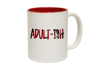123T Funny Mugs - Adultish Funny - Red Coffee Cup