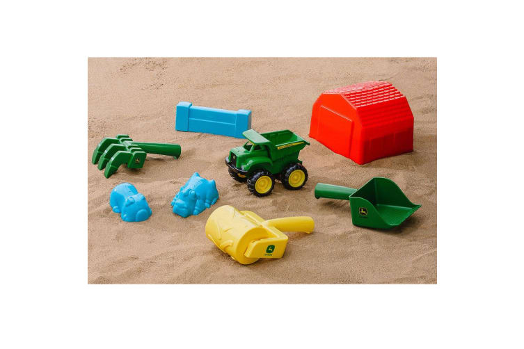 John Deere 37782 Sand Pit Tools and Accessories Dump Truck/Tractor Kids Toys/Fun