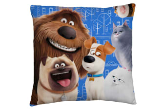 The Secret Life Of Pets Animals Square Cushion (Multicoloured)