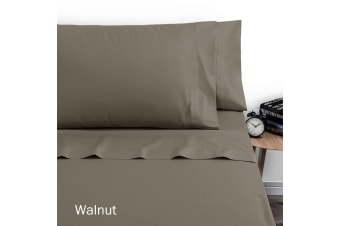 250TC Polyester Cotton Sheet Set Single Walnut by Artex