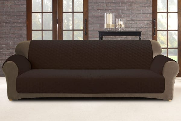 Custom Fit 3 Seater Sofa Protector - Coffee