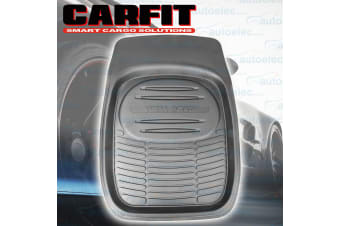 1X CARFIT FRONT DEEP DISH RUBBER FLOOR MAT HEAVY DUTY 4X4 4WD MUD SAND NEW BLACK