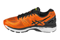Asics Men's Gel-Kayano 23 (Flame Orange/Black/Safety Yellow)