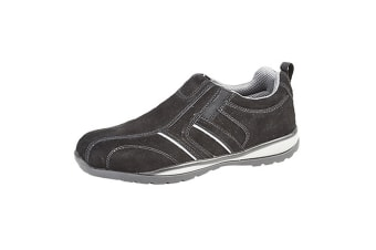 Grafters Mens Real Suede Casual Safety Trainer (Black) (7 UK)