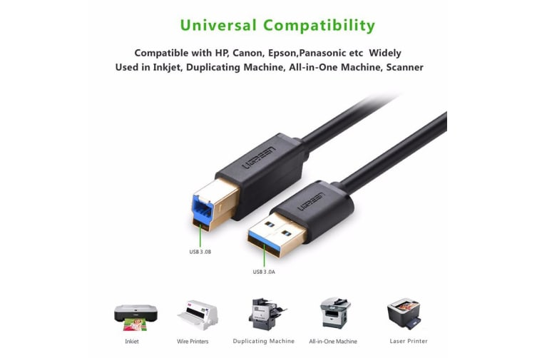UGREEN USB 3.0 A Male to B Male Cable 2M (10372)