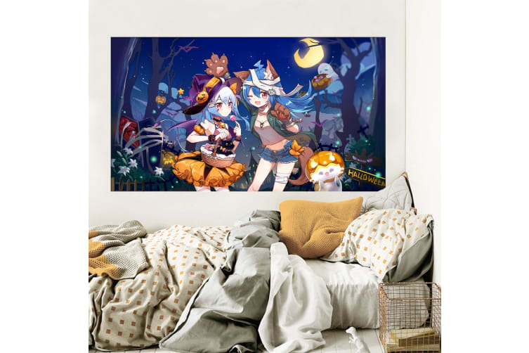 3D Sorceress 330 Anime Wall Stickers Self-adhesive Vinyl, 110cm x 110cm(43.3'' x 43.3'') (WxH)