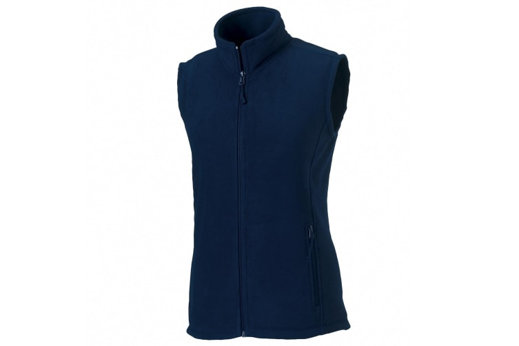 Russell Europe Womens/Ladies Outdoor Full-Zip Anti-Pill Fleece Gilet Jacket (French Navy) (S)