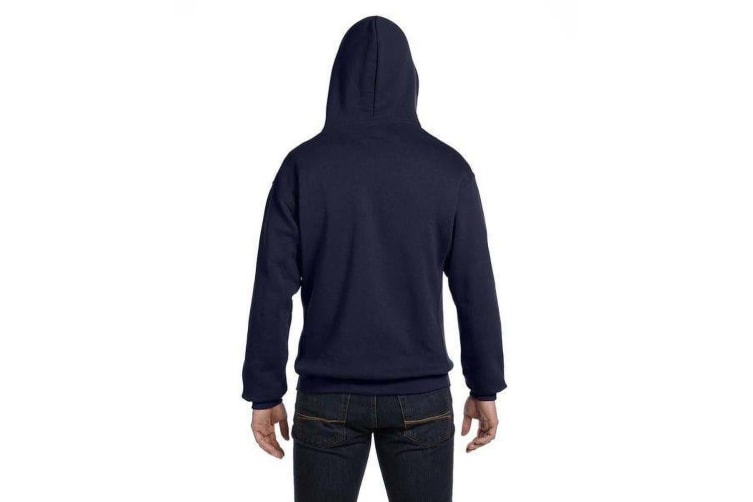 Russell Mens Authentic Full Zip Hooded Sweatshirt / Hoodie (French Navy) (XL)