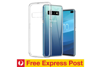 Samsung Galaxy S10 Ultra Slim Premium Crystal Clear TPU Gel Back Case by MEZON – Shock Absorption, Wireless Charging Compatible (S10, Gel) – FREE EXPRESS