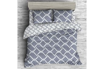 Giselle Bedding Quilt Cover Set King Bed Doona Duvet Reversible Sets Geometry Pattern