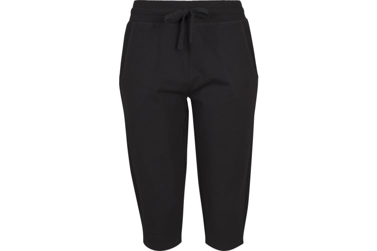 Build Your Brand Womens/Ladies Knee Length Terry Jogging Pants (Black) (XS)