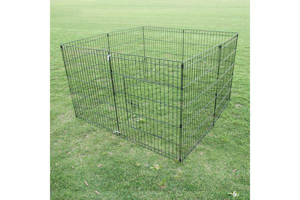 8 Panel Foldable Pet Playpen 30""