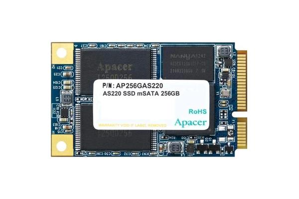 Apacer AS220 mSATA 256GB 6Gbps mSATA SSD Sequential read speed up to 550MB/s and write speed up to