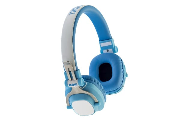 Moki EXO Kids Bluetooth Wireless Over Ear Headphones - Blue (ACCHPEXKBL)