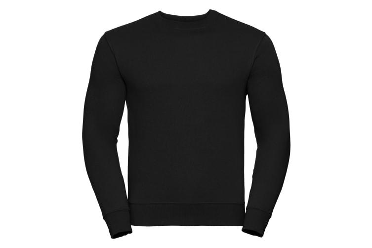 Russell Mens Authentic Sweatshirt (Slimmer Cut) (Black) (4XL)