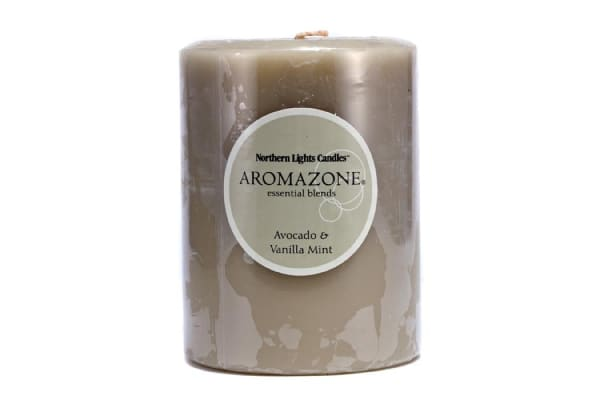 Northern Lights Candles AromaZone Essential Blends Candle - Avocado & Vanilla Mint ((3x4) inch)