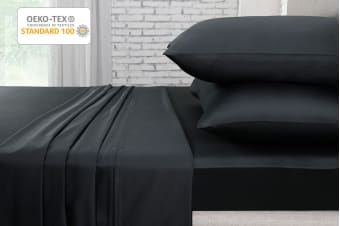 Ovela 1000TC 100% Egyptian Cotton Bed Sheet Set (Single, Charcoal)