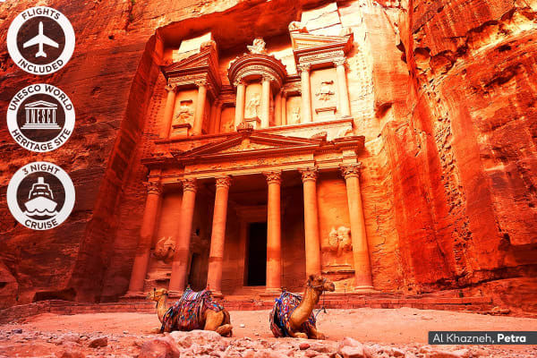 MIDDLE EAST: 15 Day Jordan, Egypt and Dubai Tour Including Flights for Two