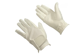 Bitz Unisex Adults Synthetic Leather Gloves (White)