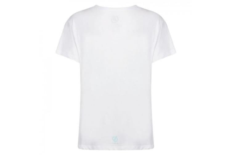 Dare 2b Womens/Ladies Glow Up Printed T-Shirt (White) (12 UK)