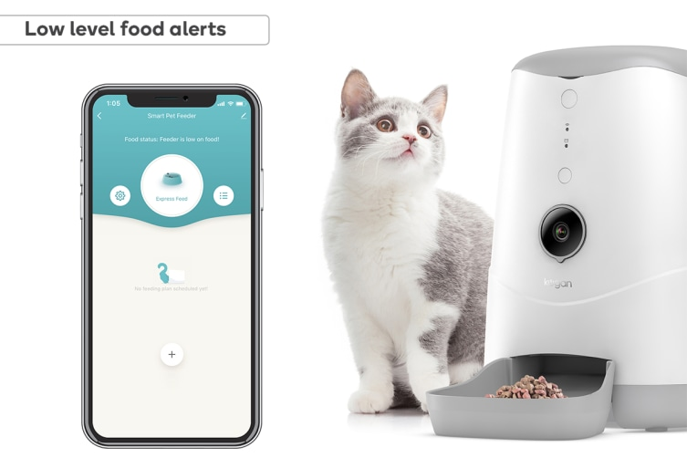 Kogan SmarterHome™ Smart WiFi Pet Feeder with HD Camera