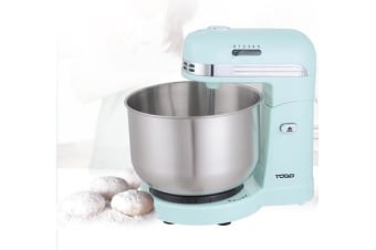 350W 5 Speed Electric Stand Mixer W/ 3.5L Stainless Steel Bowl Retro Blue T-Sm780