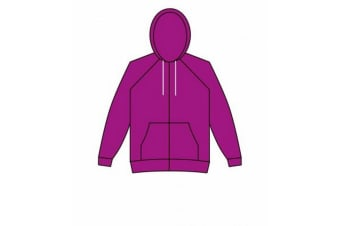 American Apparel Unisex Flex Zip Hooded Sweatshirt (Dark Orchid) (XXS)