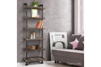 Artiss Rustic Industrial DIY Pipe Shelf Shelves Brackets Wall Display Bookshelf