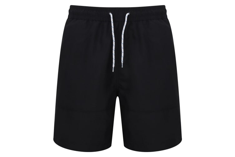 Front Row Mens Board Shorts (Navy/Navy) (XS)