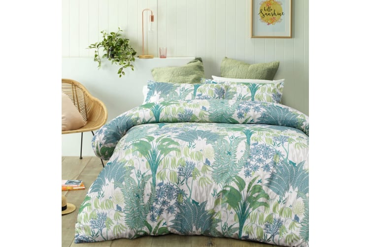 Rainforest Green Quilt Cover Set Queen