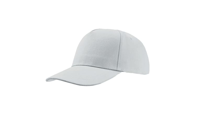 Atlantis Liberty Five Heavy Brush Cotton 5 Panel Cap (Pack of 2) (White) (One Size)