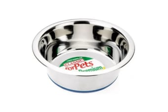 Classic Stainless Steel Dog Bowl (Silver) (6.75in)