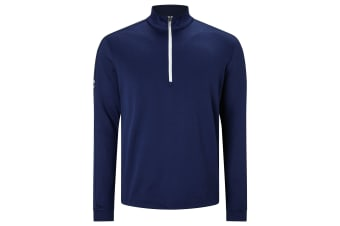 Callaway Mens Stretch Waffle Pullover (Blueprint Heather)