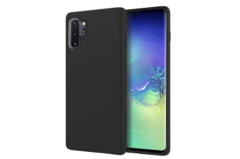 ZUSLAB Galaxy Note 10 Plus & Note 10 Plus 5G Nano Silicone Case Shockproof Gel Rubber Bumper Protective Cover for Samsung - Black